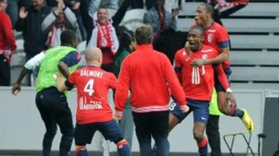 Kalou le dio los tres puntos al Lille cuando el duelo ante el Guingamp e...