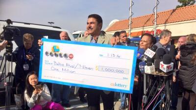 Un millón de dólares para el 7-Eleven que vendió Powerball multimillonario