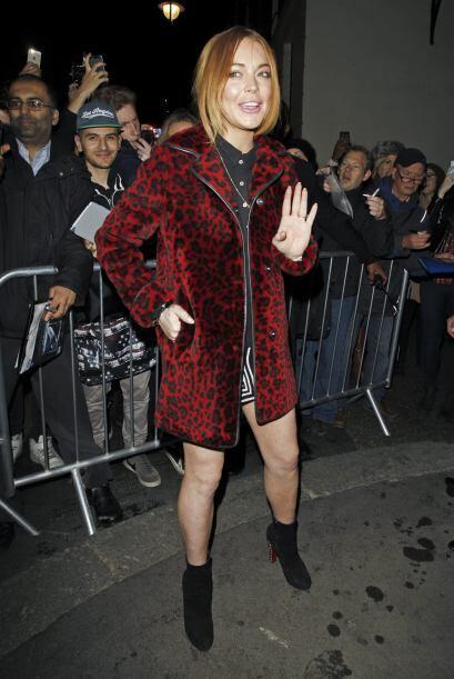 La actriz fue vista saliendo de un teatro de Londres después de su actua...