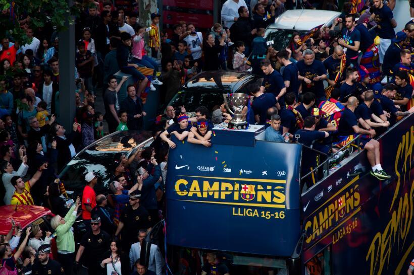 Barcelona festeja campeonato