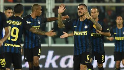 Con doblete de Icardi el Inter superó al Pescara de último minuto