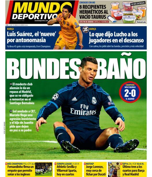 La prensa española criticó duramente el fracaso del Madrid...