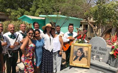 El pueblo de Guasave, Sinaloa, rindió homenaje a Chayito Valdez, al cele...
