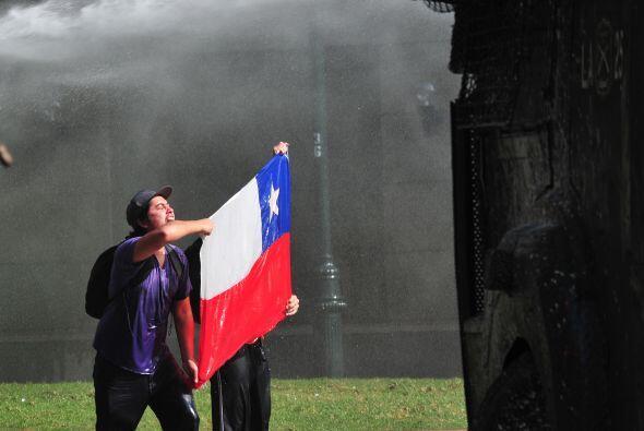 La manifestación fue convocada por la Confederación de Estudiantes de Ch...