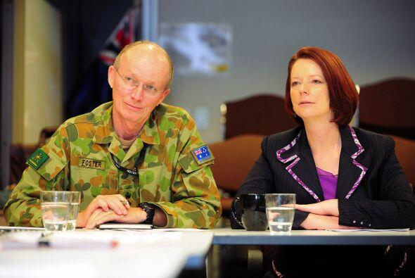 Julia Gillard, primera ministra australiana, hizo un llamado a los ciuda...