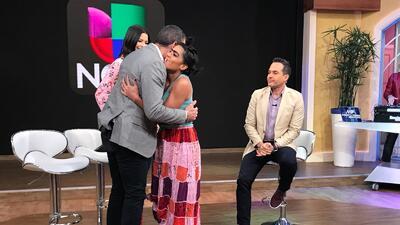 En fotos: Mela le robó un beso a Carlos Calderón (al estilo de Marc Anthony)
