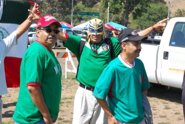 El público de la Selección Mexicana se hizo sentir en las inmediaciones...