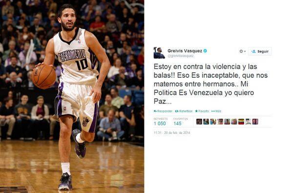 Greivis Vásquez, jugador de la NBA, escribió en su cuenta Twitter que su...