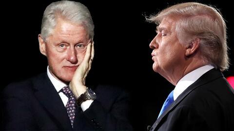 El expresidente Bill Clinton y el presidente electo Donald Trump.