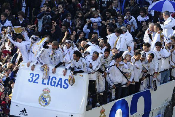 Esta fue la celebración del Real Madrid, flamante campeón de la Liga esp...