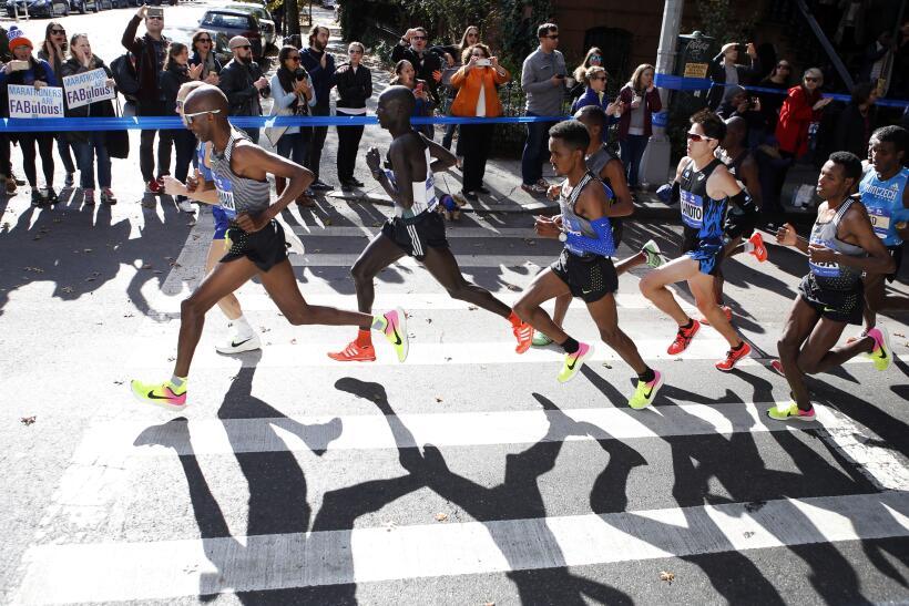 Cinco mensajes en la ruta del maratón de Nueva York, el más concurrido d...