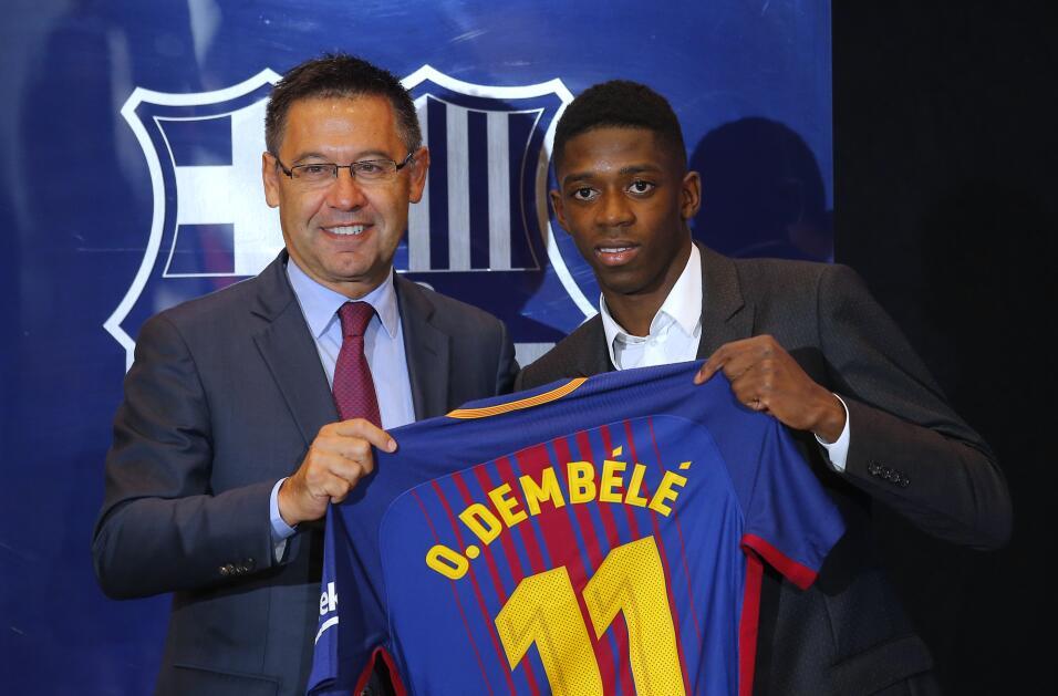 Ousmane Dembélé vuelve a los entrenamientos con Barcelona AP_17240495004...