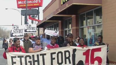 Protestas por aumento del salario mínimo