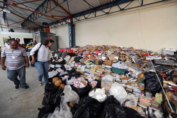 La polícia brasileña comenzó la incineración de las 42 toneladas de drog...