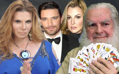 Mhoni Vidente, Julián Gil, Marjorie de Sousa, el Brujo mayor