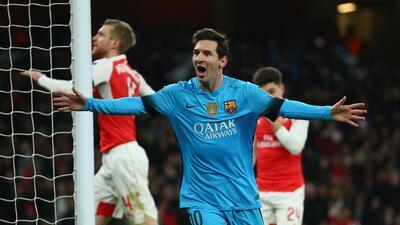 Leo Messi marcó los dos goles del Barcelona en Londres