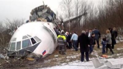 El Tupolev-154, un trirreactor que realizó su primer vuelo comercial en...