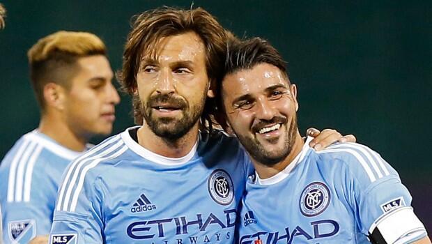 David Villa y Andrea Pirlo, New York City FC