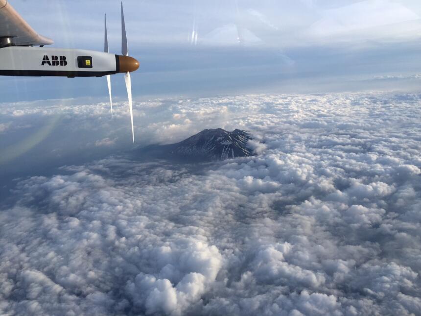 Etapa 7: Nankín-Nagoya. El 31 de mayo el avión solar sale de China para...