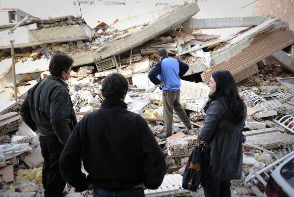 Los fallecidos fueron víctimas de los derrumbes que produjeron los terre...