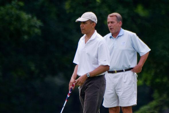 El juego en el campo de golf tuvo como telón de fondo las negociaciones...