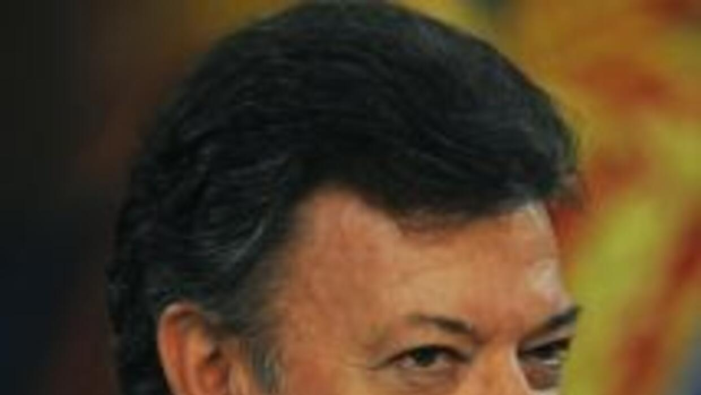 El presidente de Colombia, Juan Manuel Santos, tildó de infame el comuni...