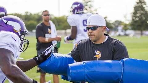 Robert Rodríguez, feliz con los Vikings (Foto cortesía Minnesota Vikings).
