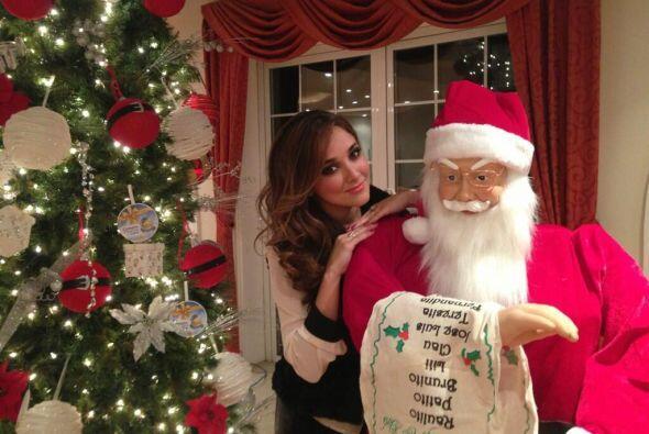 Sherlyn aseguró que la Navidad es un época favorita del a&...