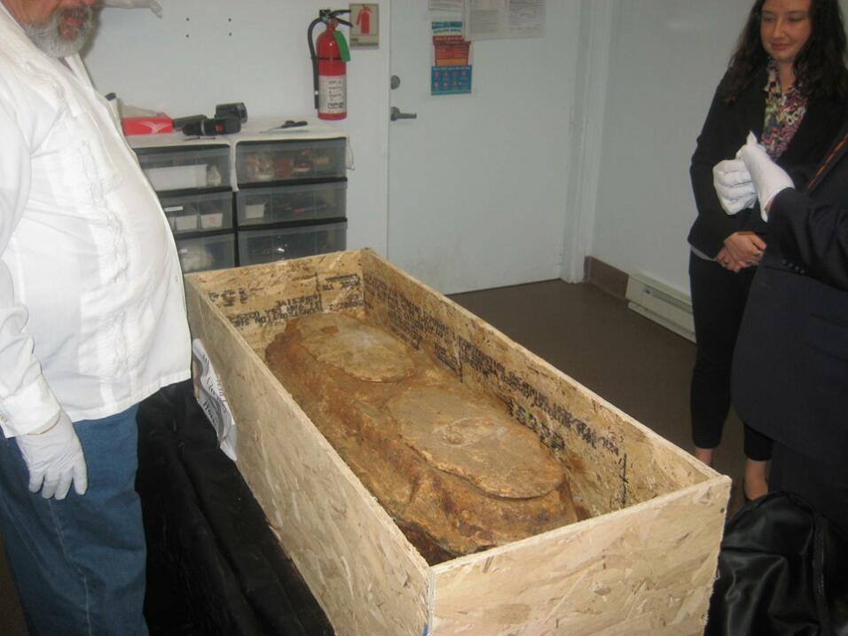 Los restos de Miranda fueron analizados por especialistas.