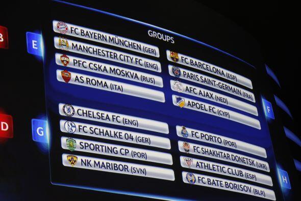 En los cuatro grupos restantes sobresale el poderío de Bayern Munich, Ma...