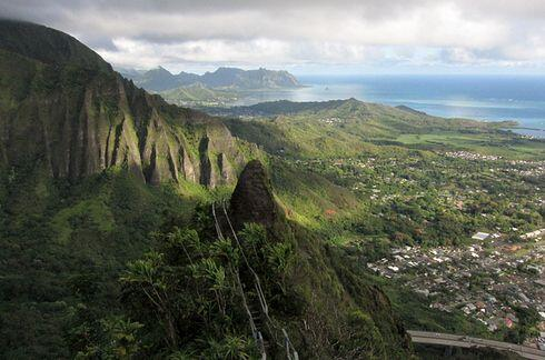 Las escaleras de Haiku en Hawaii, Estados Unidos