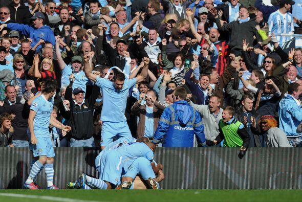 El argentino Sergio Agüero hizo el gol del título justo cuando el partid...