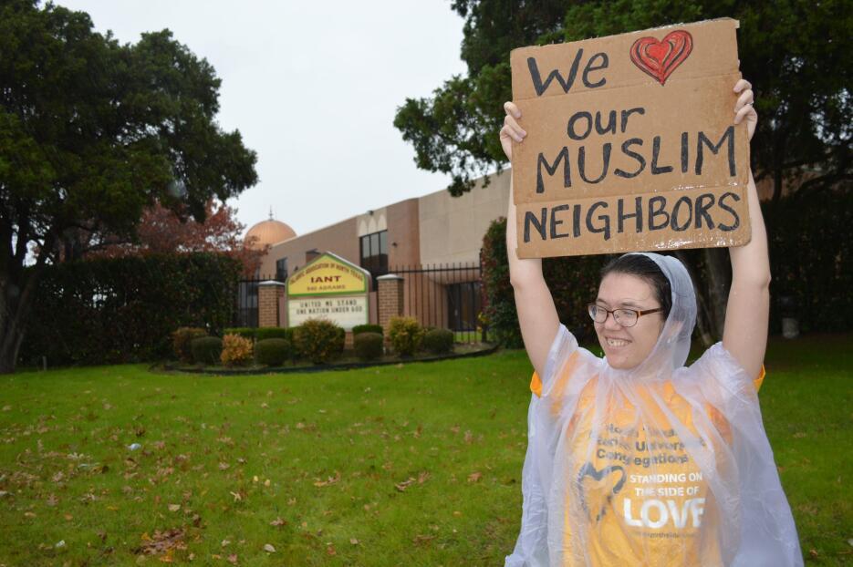 También hubo manifestaciones de apoyo para la comunidad musulmana