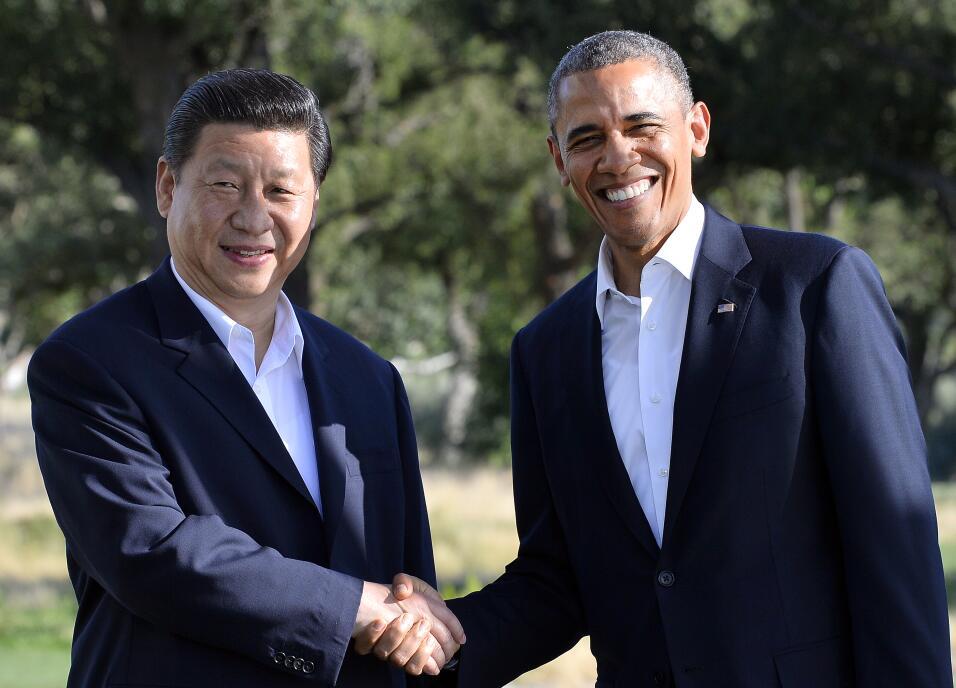 El presidente de Estados Unidos, Barack Obama, recibe al presidente chin...