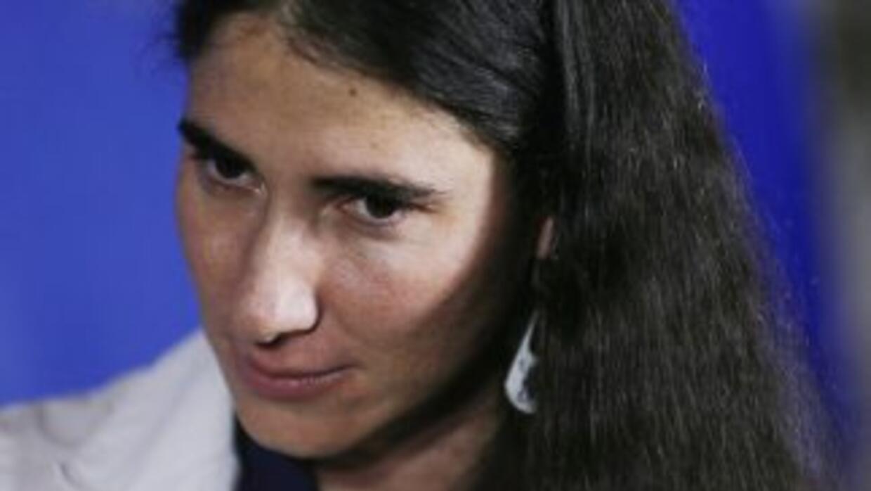 Yoani Sánchez.