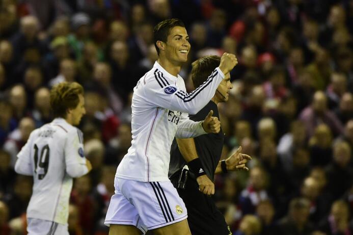 Temporada 2014/2015 - Cristiano Ronaldo (Real Madrid C.F.) con 10 goles.