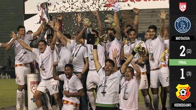 Goles con los que Herediano se coronó en Liga Concacaf ante Motagua y va a la Liga de Campeones