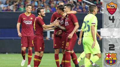 En fotos: Roma lo hizo de nuevo y remontó contra Barcelona en duelo internacional amistoso