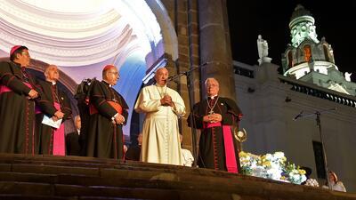 Papa Francisco en la catedral de Quito