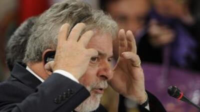 """El presidente de Brasil, Inácio Lula Da Silva pidió """"armonía"""" entre Colo..."""