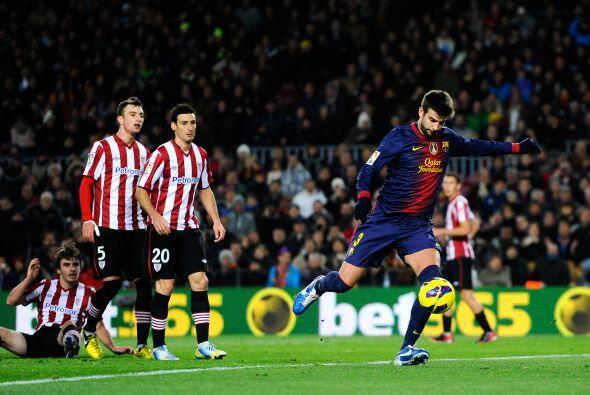 El central del Barcelona completó un partido redondo en contra de...