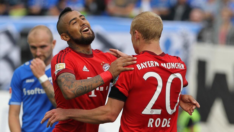 Arturo Vidal anotó su primer gol con el Bayern en la Bundesliga.