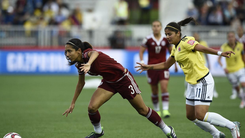 Christina Murillo, en acción en México vs Colombia.
