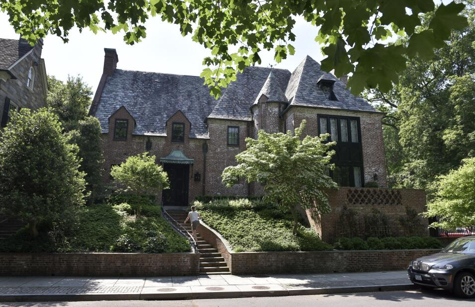 La casa de los Obama en Kalorama, Washington DC.