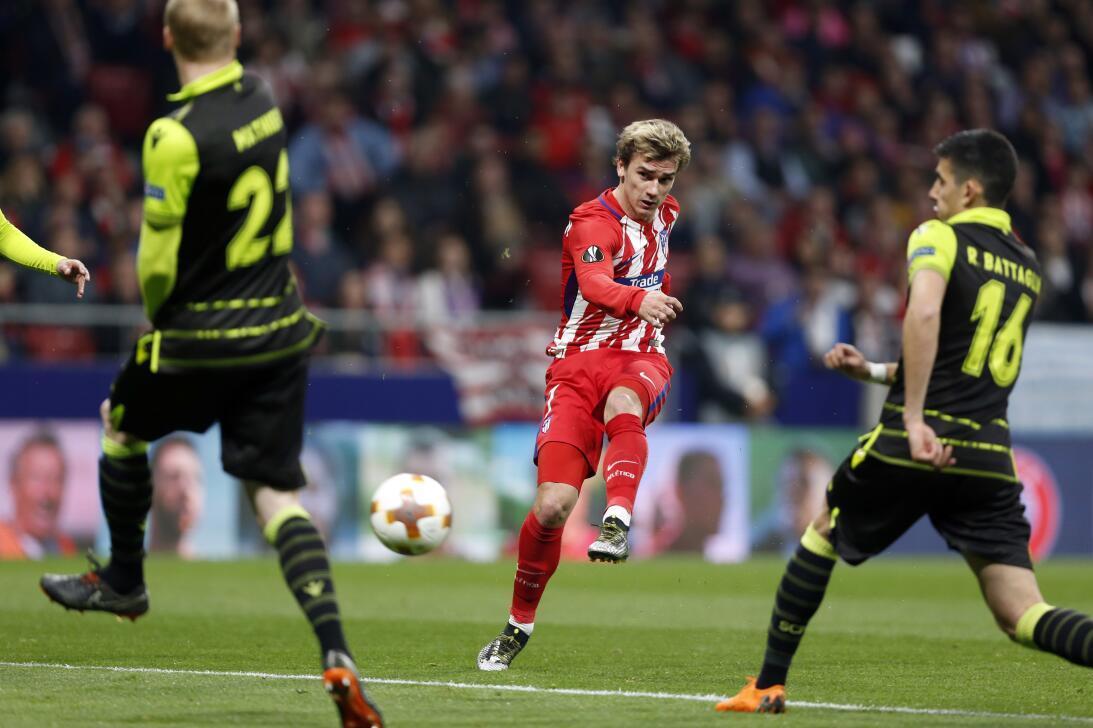 Con el 2-0, el Atlético se relajó, bajó la velocidad y le entregó el bal...