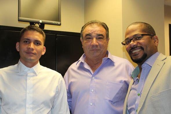 Eliecer, Rigoberto López Alonso y Alexis.