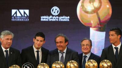Cristiano Ronaldo fue elegido como el mejor futbolista del año.