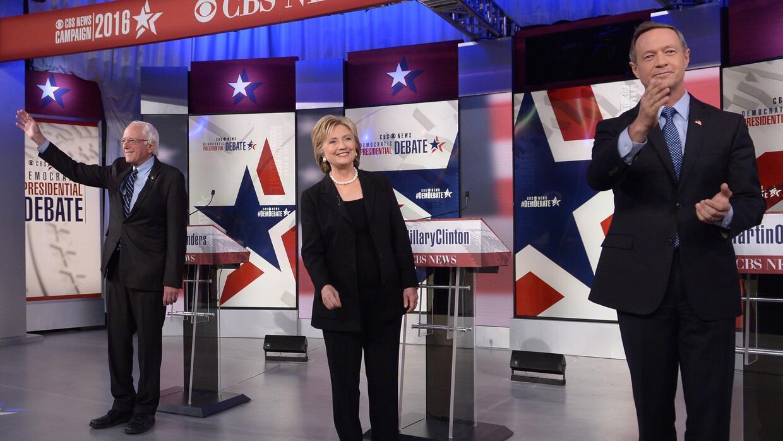 Sander, Clinton y O'Malley, precandidatos demócratas