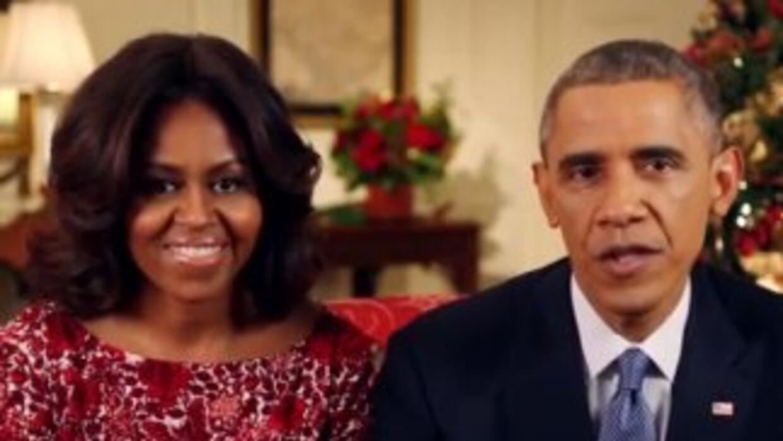 Michelle y Barack Obama enviaron su primer mensaje navideño a la nación.