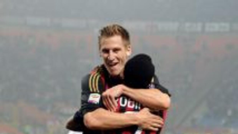 Valter Birsa anotó el gol del triunfo del Milan.